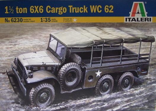 1,5 ton 6x6 Cargo Truck WC 62