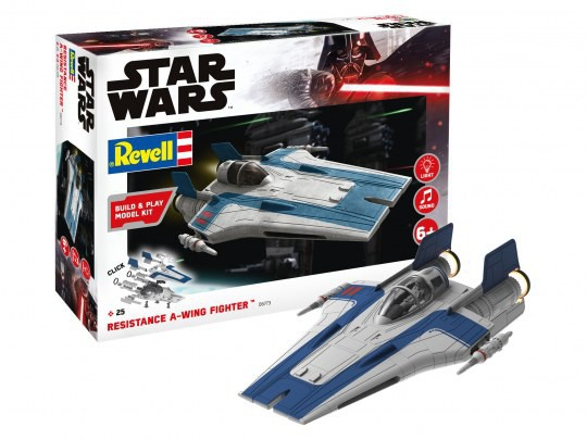 Resistance A-wing Fighter Blue - Build and Play