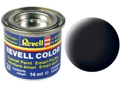 zwart, mat kleurnummer 8