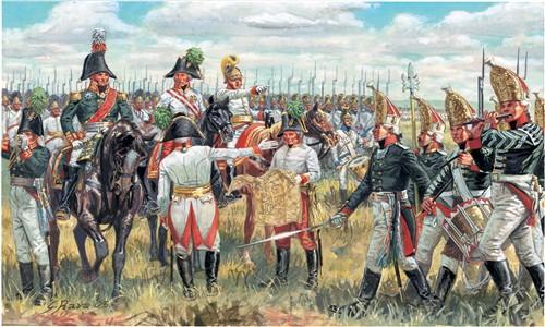 Italeri Austrian and Russian Ge. Staff - Napoleon Wars