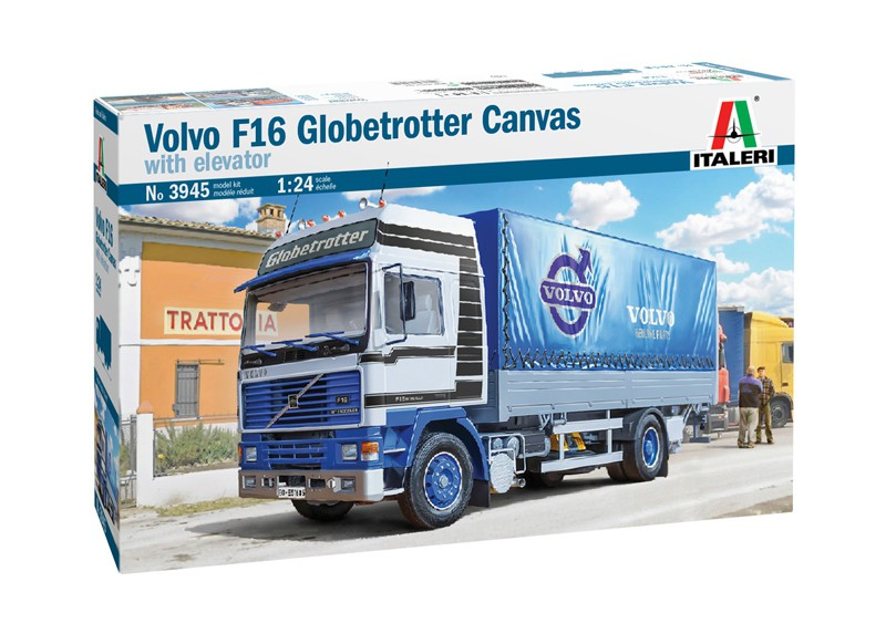 Italeri Volvo F16 Globetrotter Canvas with Elevator