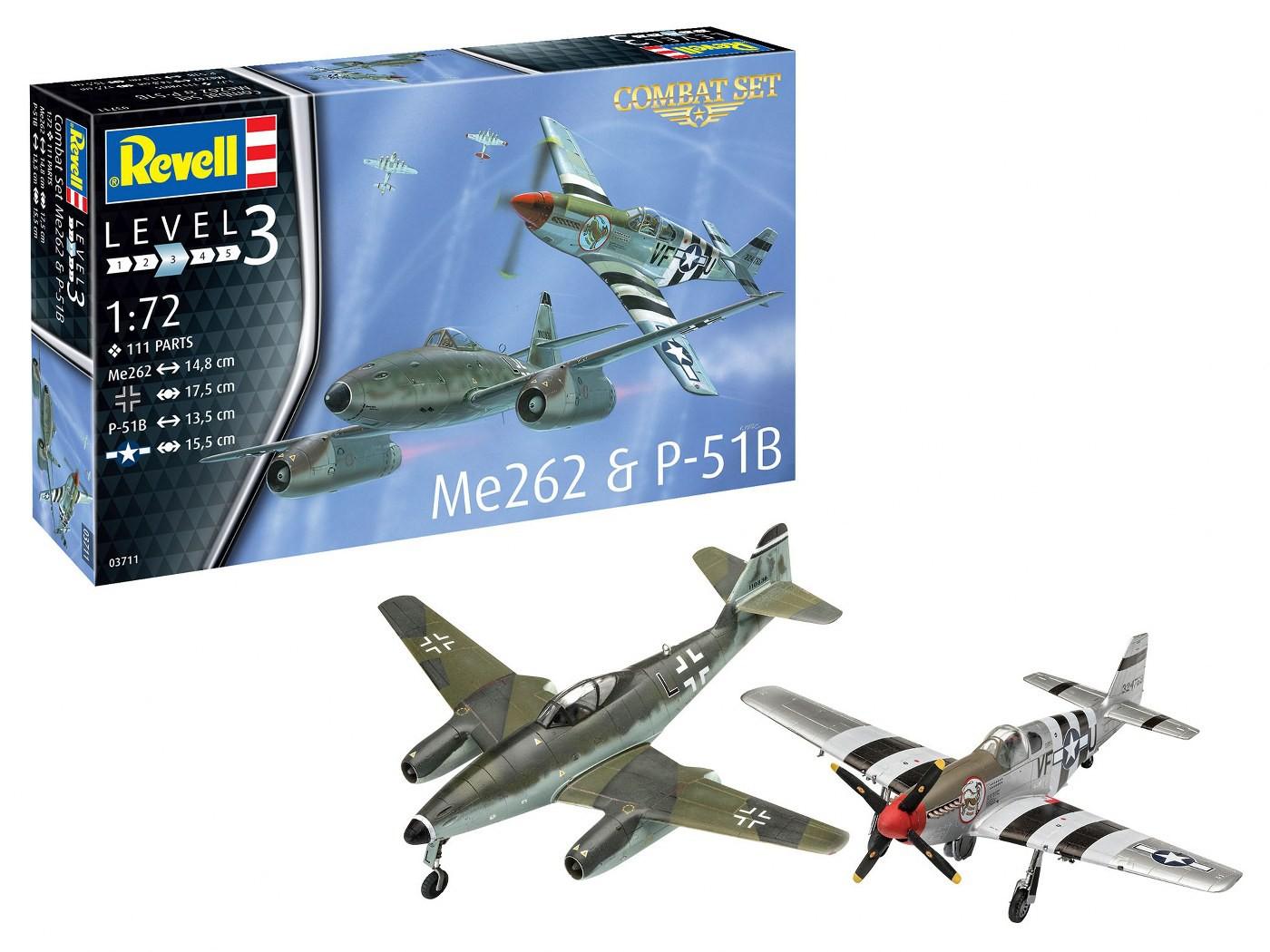 Messerschmitt Me262 + P-51B Mustang - Combat Set