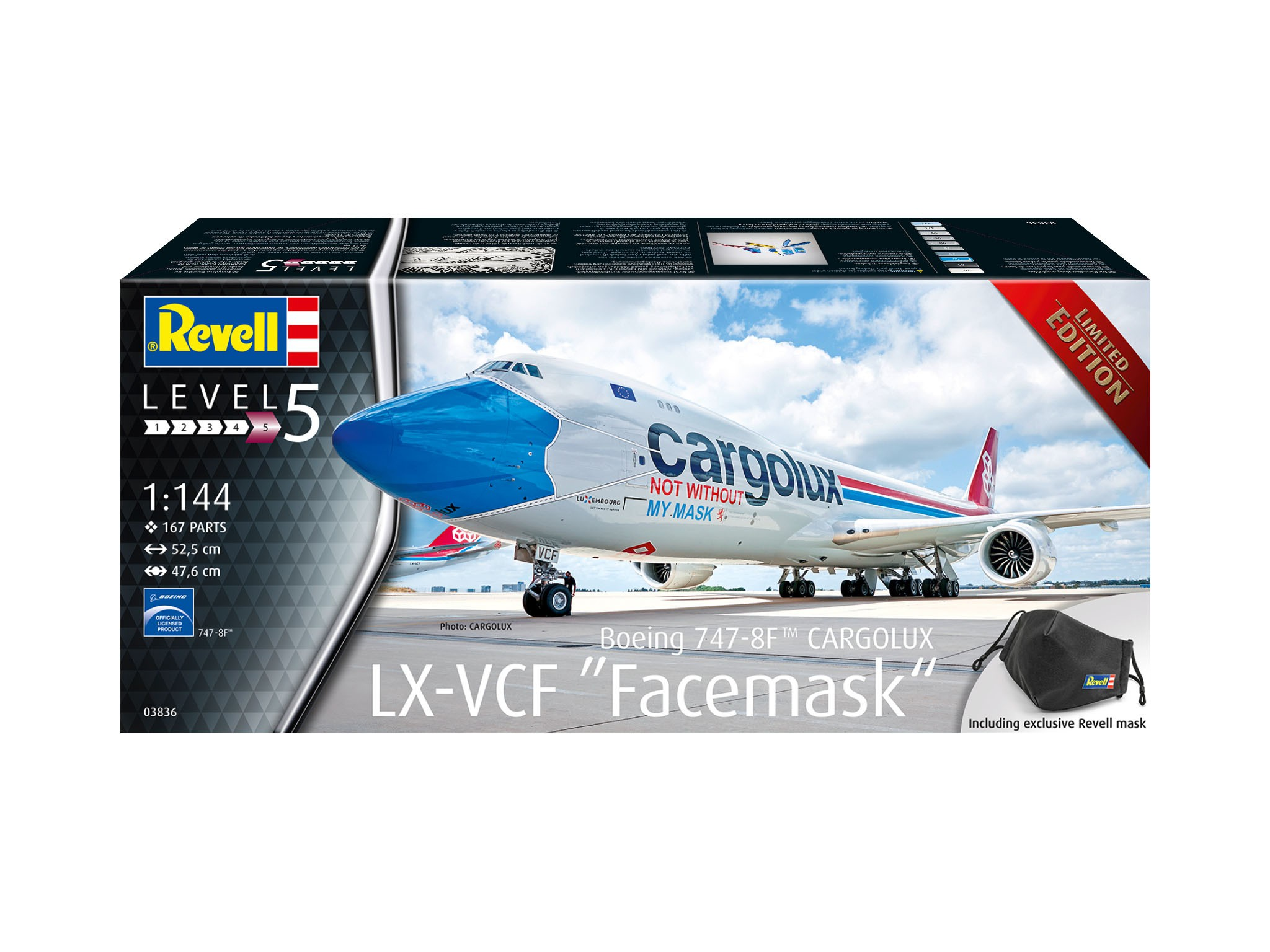 Boeing 747-8F Cargolux - not without my mask - Limited Edition