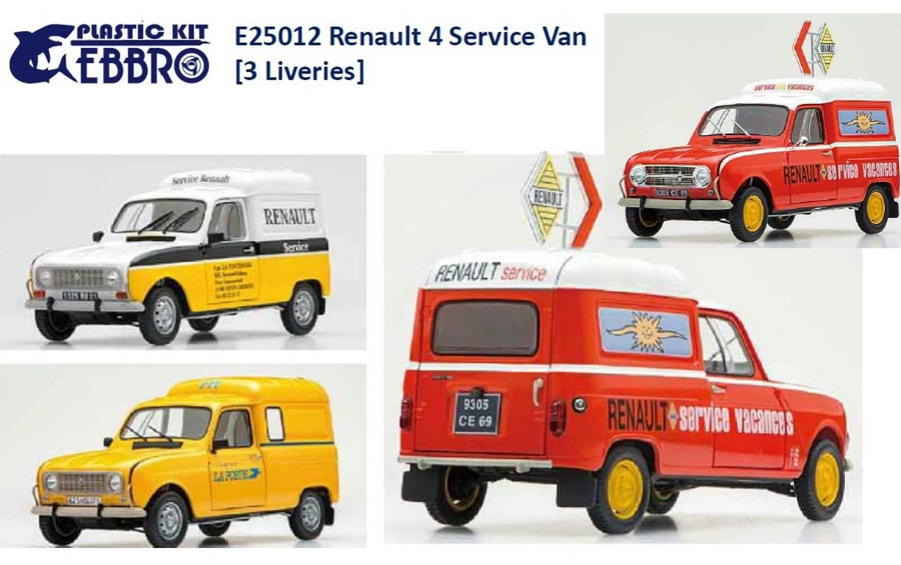 Ebbro Renault 4 Fourgonnette Service Car