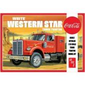 AMT White Western Star Semi Tractor Coca Cola