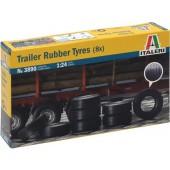 Italeri Trailer Rubber Tyres (8x)