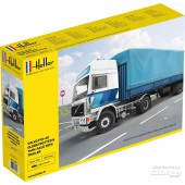 Heller Volvo F12-20 Globetrotter + Huif Trailer