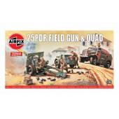 Airfix 25pdr Field Gun and Quad