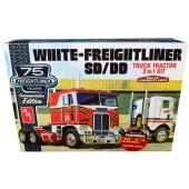AMT White Freightliner 2in1 sc/dd Cabover Tractor 75th Anniversary