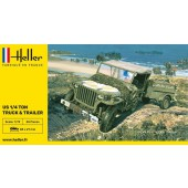 Heller Jeep Willy + Trailer