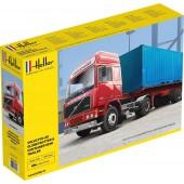 Heller Volvo F12-20 Globetrotter + Container Trailer