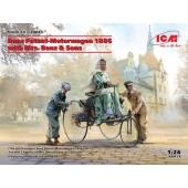 ICM Benz Patent-Motorwagen 1886 with Mrs. Benz & Sons
