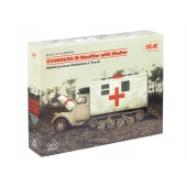 ICM V3000S/SS m Maultier with Shelter,WWII German Truck