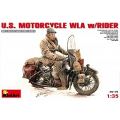 MiniArt U.S. Motorcycle WLA with Rider