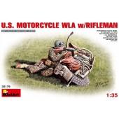 MiniArt U.S. Motorcycle WLA with Rifleman