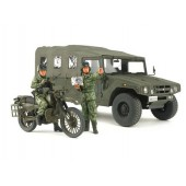 Tamiya JGSDF Reconnaissance Motorcycle & High Mobility Vehicle Set