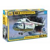 Zvezda MIL MI-8 Rescue Helicopter