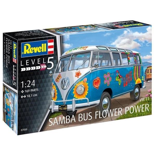 revell 07050 volkswagen t1 samba bus flower power de. Black Bedroom Furniture Sets. Home Design Ideas