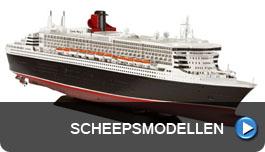Modellen van alle soorten schepen